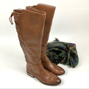 Vince Camuto Palenda Boots Knee High Lace-up Sz 9